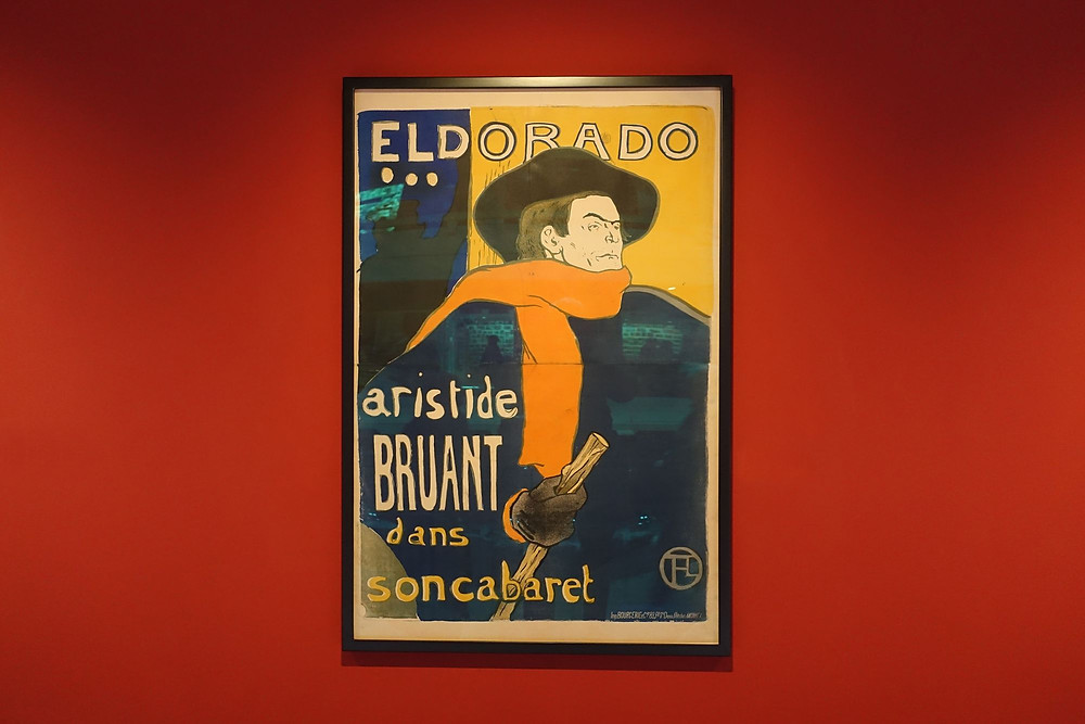 Aristide Bruant à l'Eldorado, 1892 Lithographie cinq couleurs, 150 x 99 cm