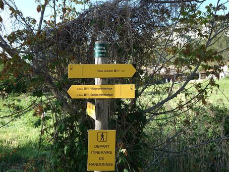 Le sentier du garde-canal dans les Basses Gorges du Verdon