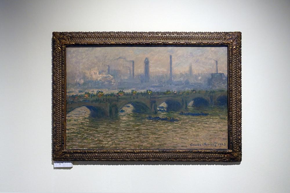 Claude Monet - Le pont de Waterloo, temps gris