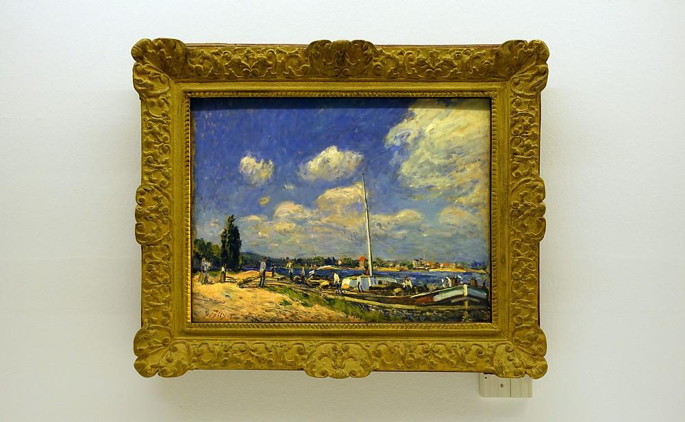 Alfred Sisley - Le déchargement des péniches à Billancourt