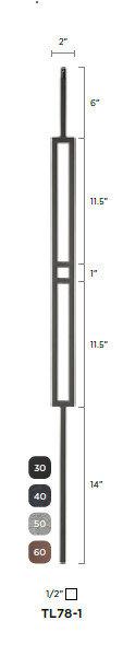 "Steel Tube Spindle - Geometric 1/2"""