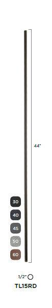 "Steel Tube Spindle - Round Series 1/2"""