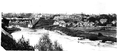 Image of Thames and Wortley Village ca 1885, London ON