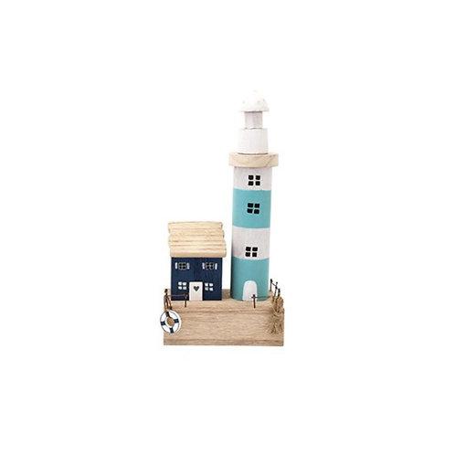 Wooden Beach Coast Lighthouse