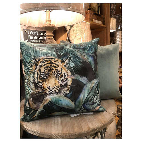 Tropical Tiger Cushion