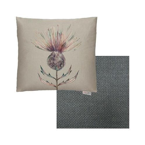 Mauve Thistle Cushion