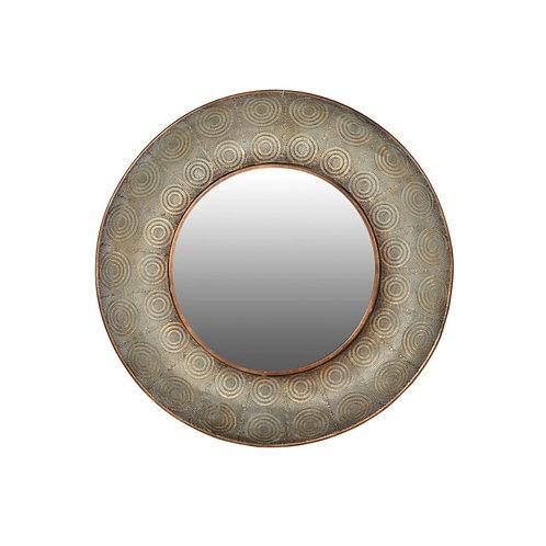 Large Mesh Round Wall Mirror
