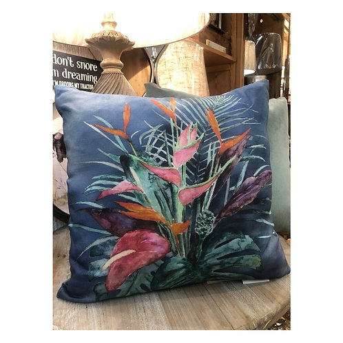 Tropical Flowers Cushion