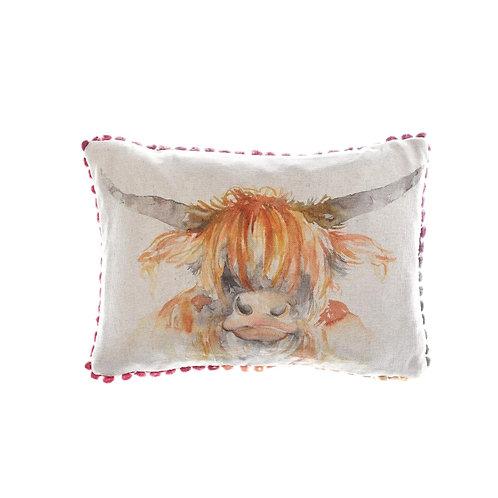 Voyage Highland Cow Cushion
