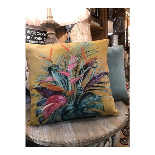 Tropical Leaves Cushion