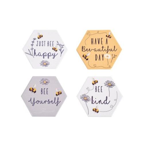 Set of 4 Bee Coasters