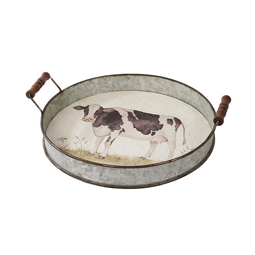 Metal Cow Tray