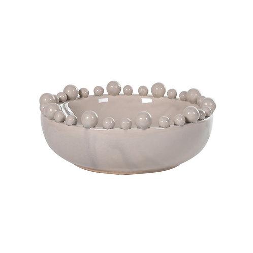 Cream Bobble Bowl