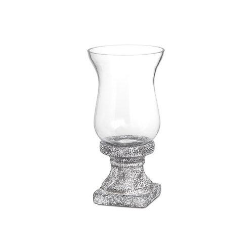 Stone Ceramic Hurricane Lantern