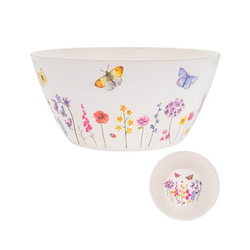 Bamboo Butterfly Salad Bowl