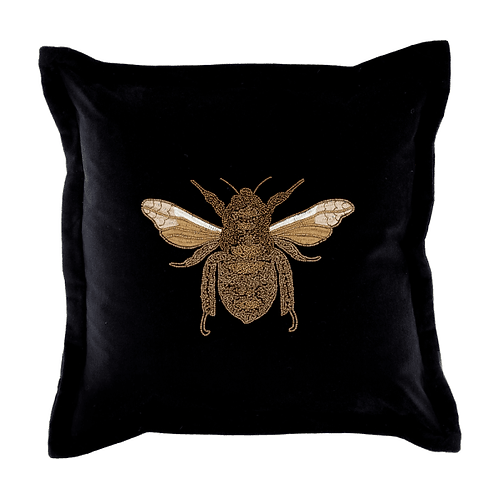 Voyage Bee Cushion Black