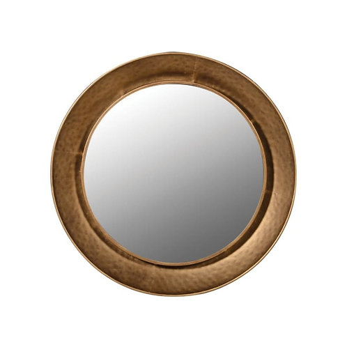 Gold Hammered Mirror