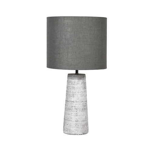 Grey Stone Effect Table Lamp