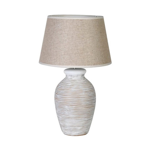 White Wash Table Lamp