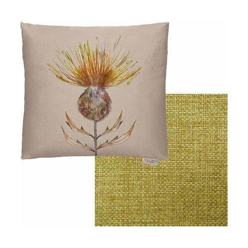 Mustard Thistle Cushion