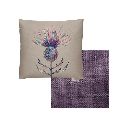 Purple Thistle Cushion