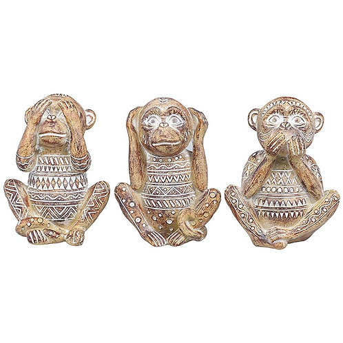 See, Hear & Speak No Evil Monkeys