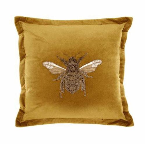 Voyage Bee Cushion Mustard