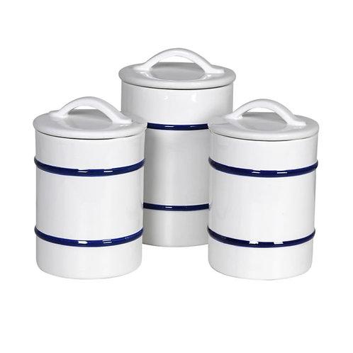 Set of 3 Lidded Jars