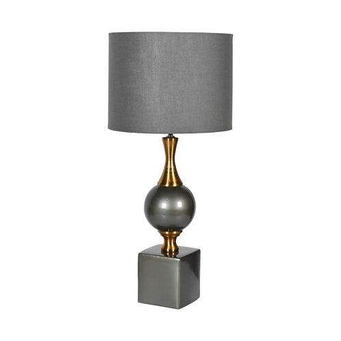 Grey & Gold Ball Lamp