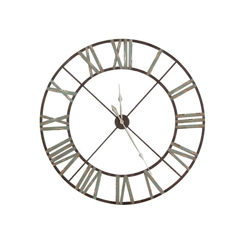 Large Aged Wrought Iron Clock