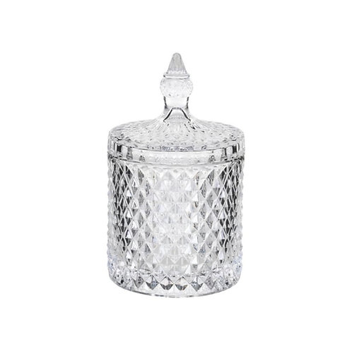 Cut Glass Jar Small