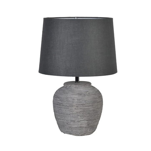 Grey Stone Table Lamp