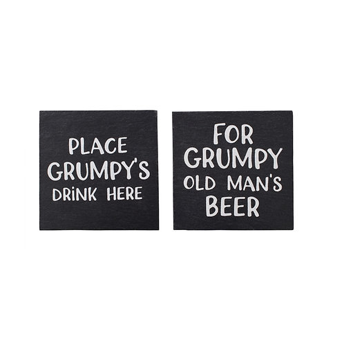 "Slate ""Grumpy"" Coasters"