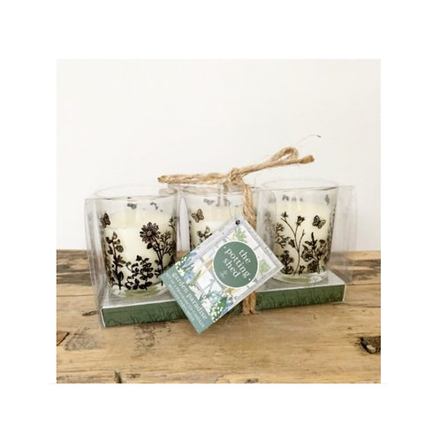 Set of 3 Potting Shed Candles