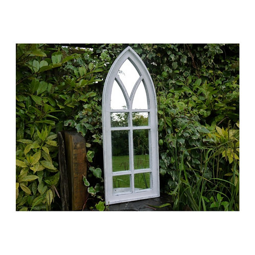 White Wash Arch Mirror