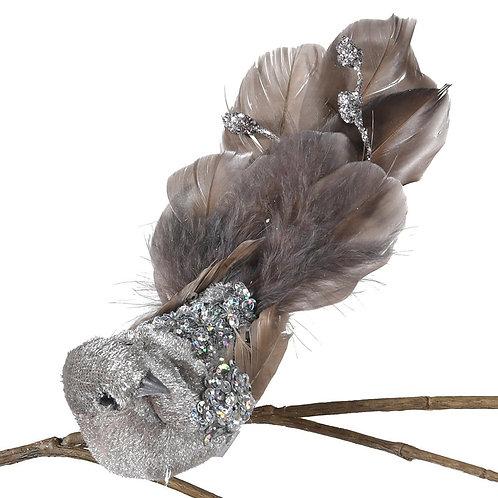 Grey Clip On Bird