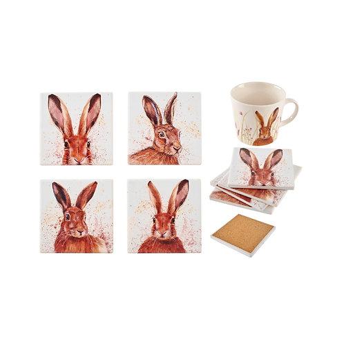 Hare Ceramic Coasters