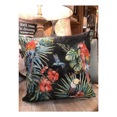 Tropical Parrot Cushion