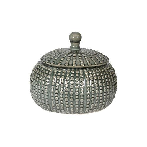 Grey Lidded Urn
