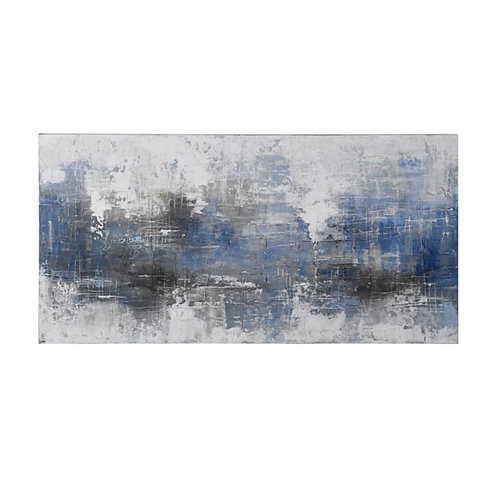 Blue Grey Oil Canvas