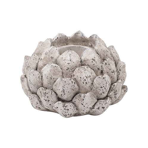 Large Stone Effect Acorn T-Light Holder