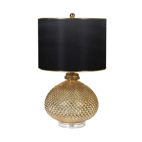 Gold Textured Ball Table Lamp
