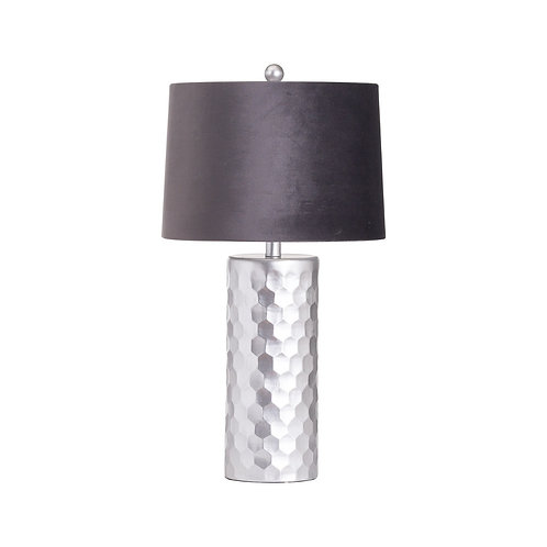 Honey Comb Silver Table Lamp