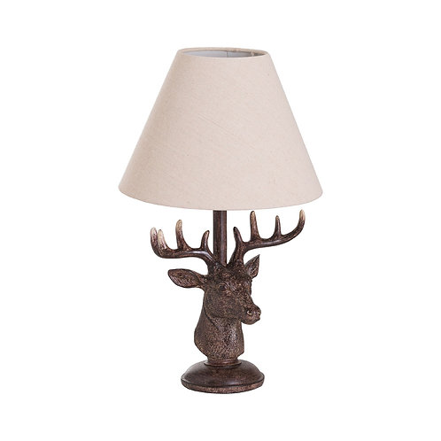 Stags Head Table Lamp