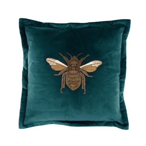 Voyage Bee Cushion Teal
