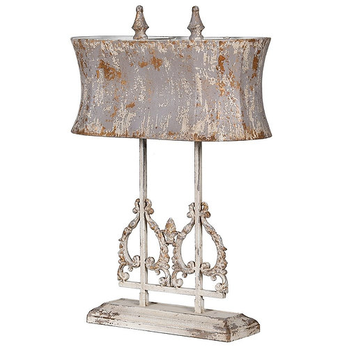 Distressed Double Ornate Lamp