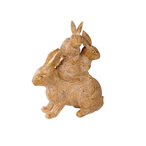 Large Family Hare Ornament