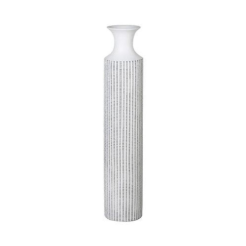 White Wash Stripe Vase