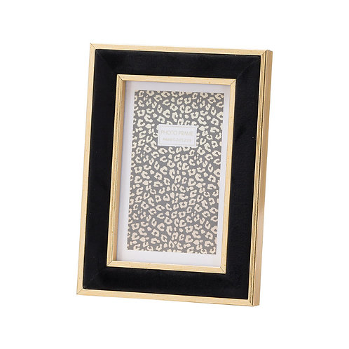 Black Velvet with Gold Frame