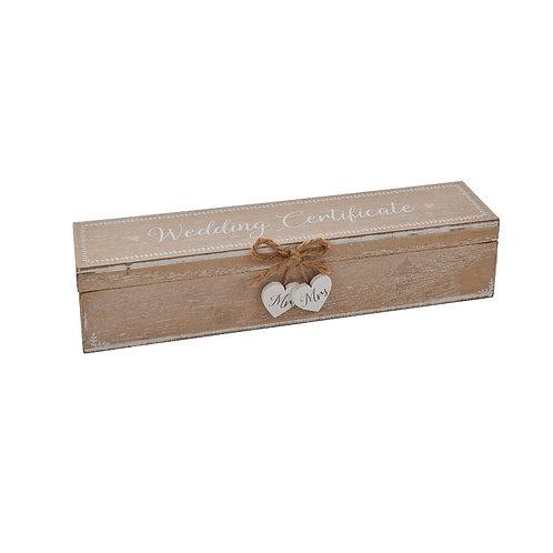 Wedding Gift Certificate Box